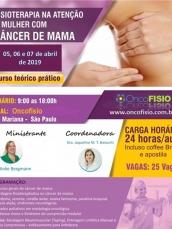 Curso de fisioterapia no Cancer de mama - Teórico Prático - Turma 4
