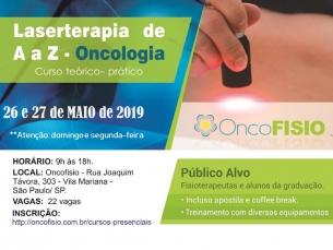 Curso de Laserterapia de A a Z Oncologia - Teórico Prático de fotobiomodulação Turma 6