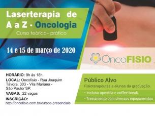 Curso de Laserterapia de A a Z Oncologia - Teórico Prático de fotobiomodulação Turma 8