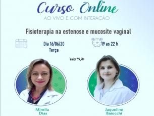 Curso online AO VIVO: Fisioterapia na estenose e mucosite vaginal