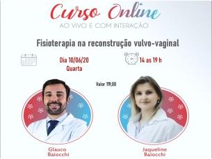 Curso Online AO VIVO: Reconstrução vulvovaginal e atuação da fisioterapia