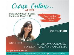Curso Online Ao Vivo: Fotobiomodulação na cicatrização e analgesia