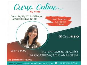 CURSO ONLINE AO VIVO: FOTOBIOMODULAÇÃO NA CICATRIZAÇÃO E ANALGESIA -  TURMA 2