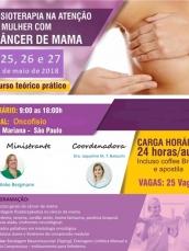 Curso de fisioterapia no câncer de mama - Teórico e prático