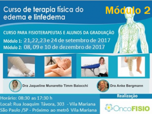 Curso de formação em terapia física do edema e linfedema - MÓDULO 2