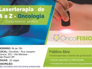 Curso de Laserterapia de A a Oncologia - Teórico Prático de fotobiomodulação