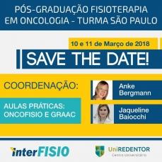Pós-graduação Fisioterapia em Oncologia – Turma 1 – São Paulo.