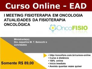 I MEETING DE FISIOTERAPIA EM ONCOLOGIA - ATUALIDADES FISIOTERAPIA ONCOLÓGICA